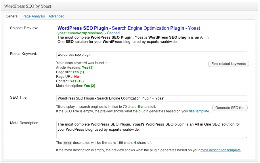 wordpess seo tool