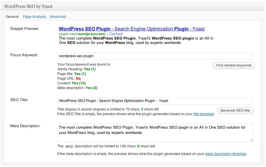 wordpess seo tool