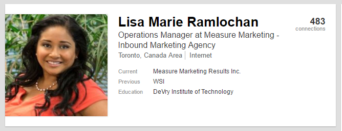 Lisa Marie LinkedIn Profile