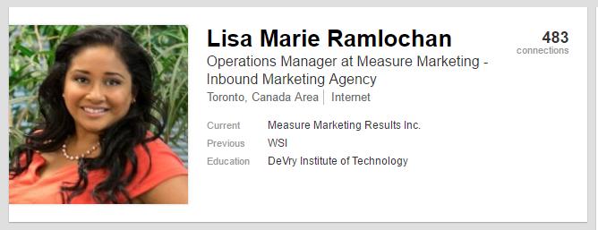 Lisa Marie LinkedIn Profile