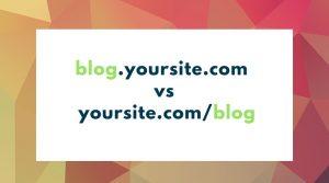 Seo Sub Domains Vs Sub Directories